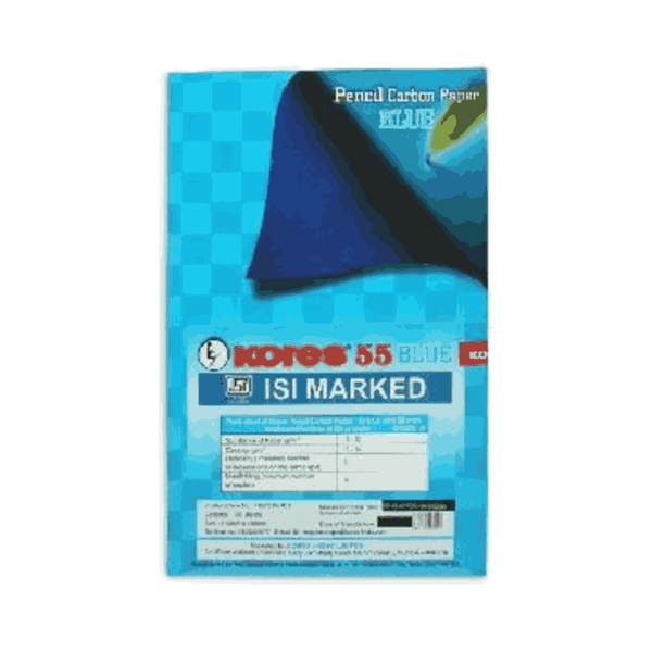 Kores Pencil Carbon 55 Blue with ISI Mark 210 x 330 mm  (Pack of 5)