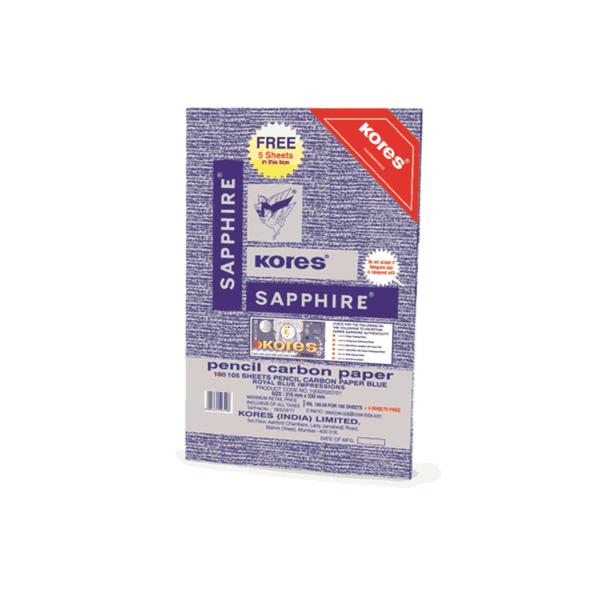 Kores Pencil Carbon Sapphire 100 Sheets 210 x 330 mm  (Pack of 5)