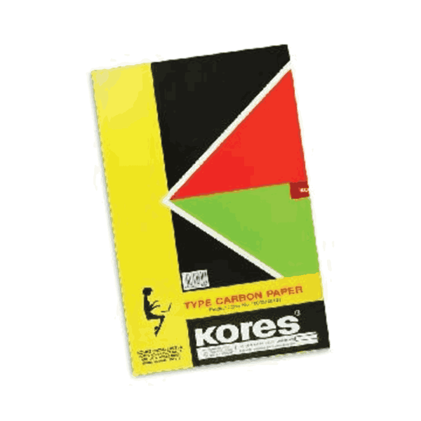 Kores Typewriter Carbon Paper 145 standard Weight Black 210 x 330 mm  (Pack of 5)