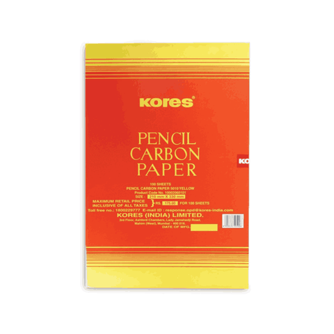 Kores Pencil Carbon Paper 5010 White 210 x 330 mm  (Pack of 5)