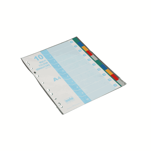 Solo Separators 10 Multicolor Dividers SP310
