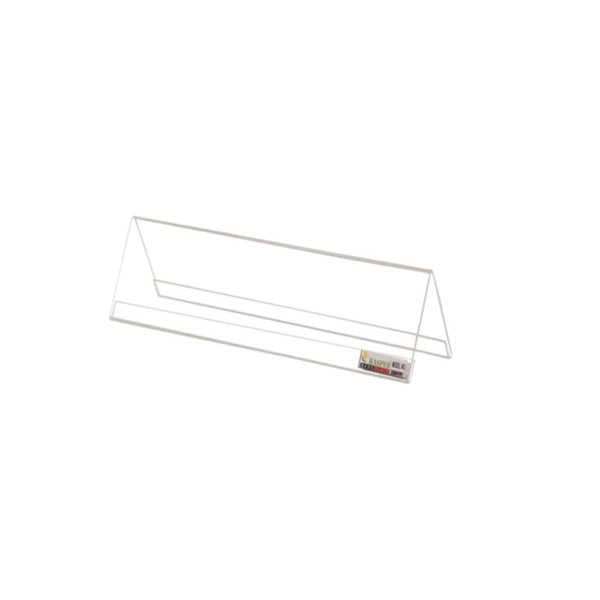 Rasper Acrylic Name Plate Clear Transparent 12x2.5 inches (Pack Of 25)
