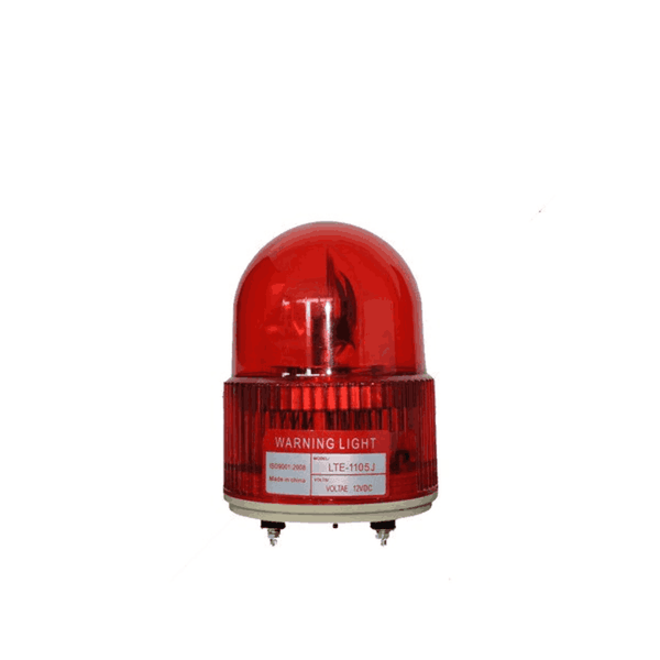 Sibass LED Revolving Warning Lights Red With Bazzer (Pack of 10)