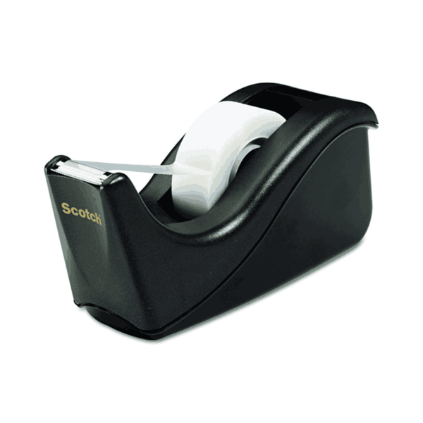 Scotch Value Desktop Tape Dispenser 1 inch Two Tone Black