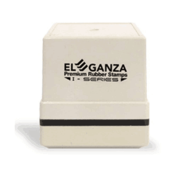 Eleganza Self Inking Customised With Clear Impression Pre-Inked Rubber Stamp 40 x 40 mm