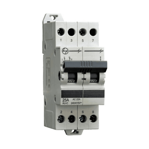 L&T Changeover Switches Double Pole 25A-63A 2-3Module