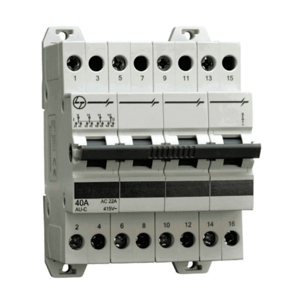 L&T Changeover Switches Four Pole 40A–63A 4-6Module