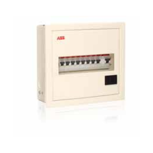 ABB Classic Series IP43 Metal Door with Acrylic Distribution Board Single phase SHC