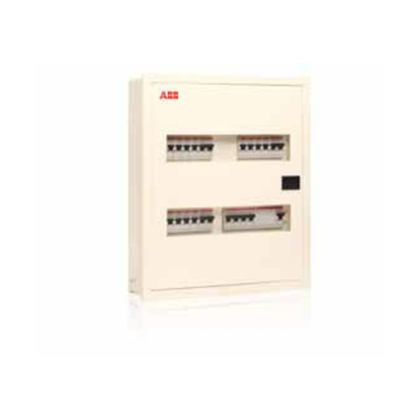 ABB Classic Series IP43 Metal Door With Acrylic Distribution Board Three Phase SHDB