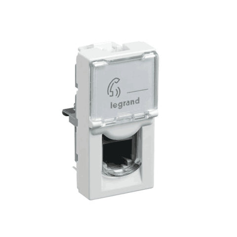 Legrand Myrius RJ-11 Telephone Socket With Transparent Shutter 1 M  6730 52