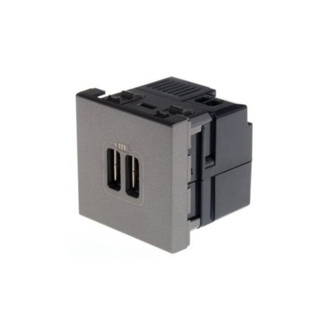 Legrand Myrius Double USB Charger  2M 2400mA  6732 78