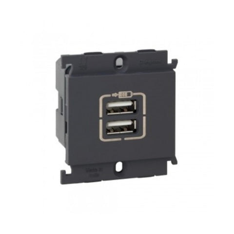 Legrand Myrius Double USB Charger 1 Module 6763 44