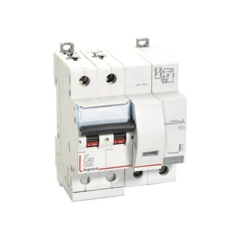 Legrand DX3 RCBO AC Type Double Pole 240 V 6 A – 63 A
