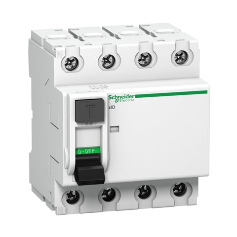 Schneider Acti 9 AC Residual Current Circuit Breakers-xID 40A 4M 4Pole