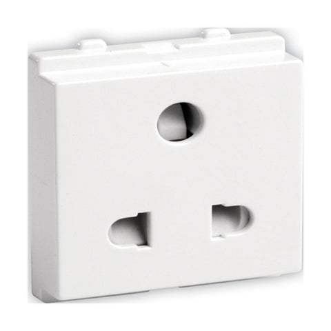 Schneider Opale Uni Socket Outlet with Shutter 6A X2007WH