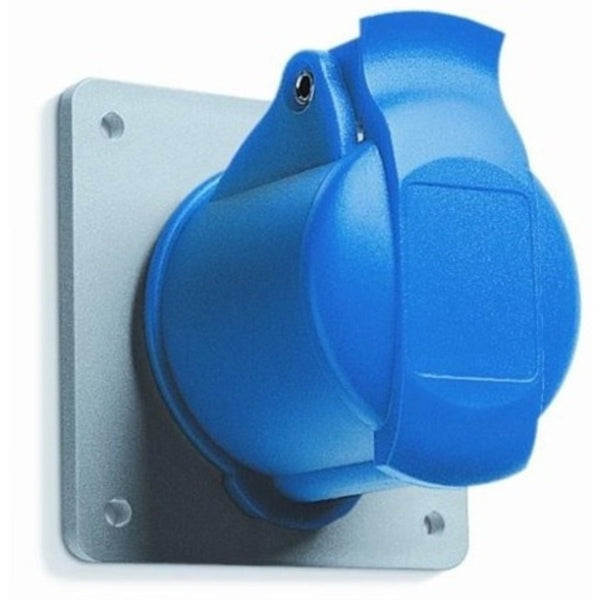 ABB IP44  Panel Mounted Socket - Unified Straight Flange Three Pole