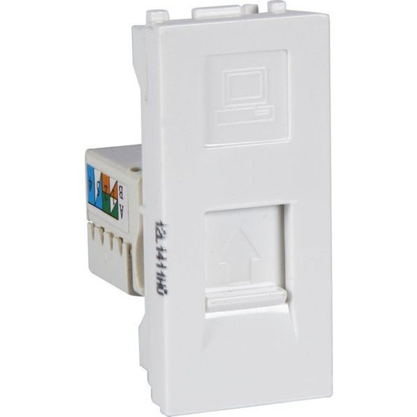 Havells Reo RJ-45 With Shutter AHBKRWW451