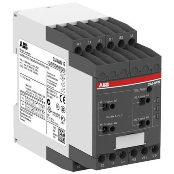 ABB 2X1C/O Insulation Monitoring Relay CM-IWN