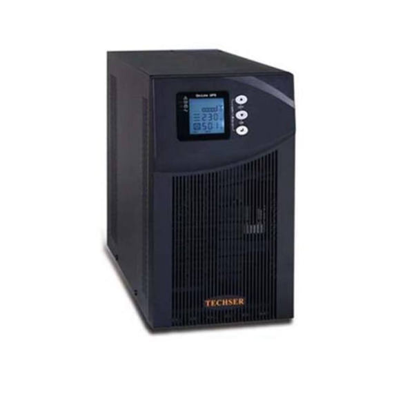 Techser Online UPS Tech Lite Series the phase Input & Single Output IGBT Base Model witb 12 V/6EL100AH Exide tubular Battery-30No's with battery stand 15 KVA 12 KW