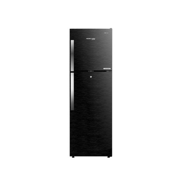 Voltas Beko 270 Litre Inverter 3 Star Frost Free Double Door Wooden Black Refrigerator With Store Fresh+ RFF293BF