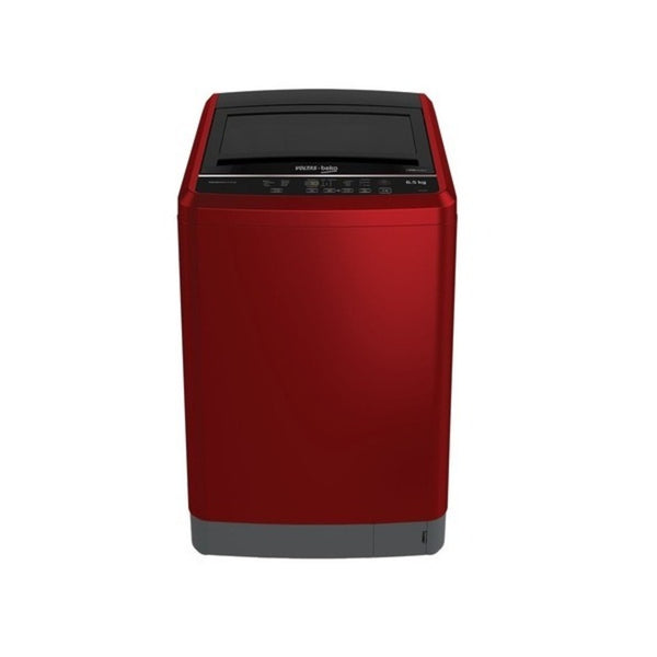 Voltas Beko 6.5 kg Fully Automatic Top Loading Washing Machine Red Claret Dual Power Rain WTL65R