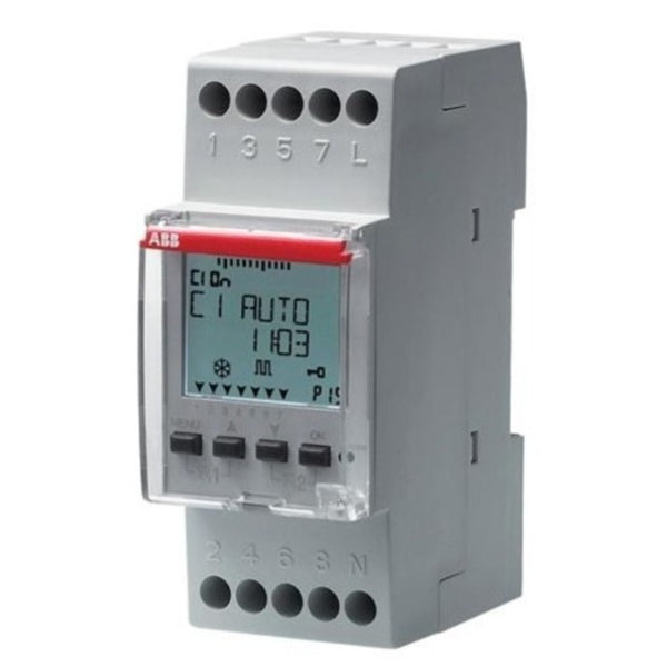 ABB 2 Channel DIN Rail D2 Weekly Digital time Switch 2CSM256313R0621
