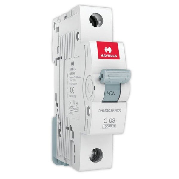 Havells C Curve MCB  Single Pole  0.5A-5A