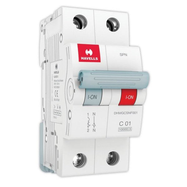 Havells C Curve MCB  Single Pole & Neutral 0.5A-5A