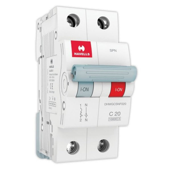 Havells C Curve MCB  Single Pole & Neutral 6A-32A