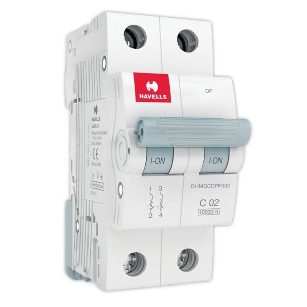 Havells C Curve MCB  Double Pole 0.5A-5A