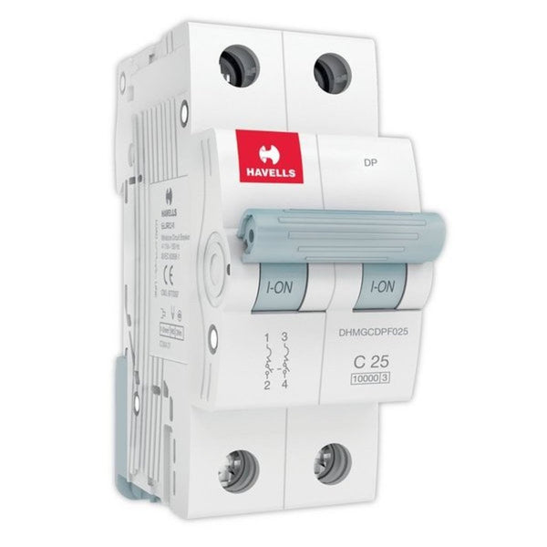 Havells C Curve MCB  Double Pole 6A-32A