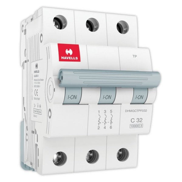 Havells C Curve MCB  Triple Pole 6A-32A