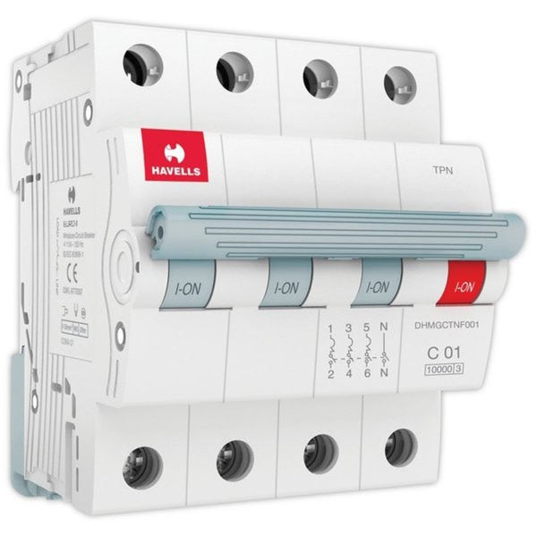 Havells C Curve MCB  Triple Pole Neutral 0.5A-5A