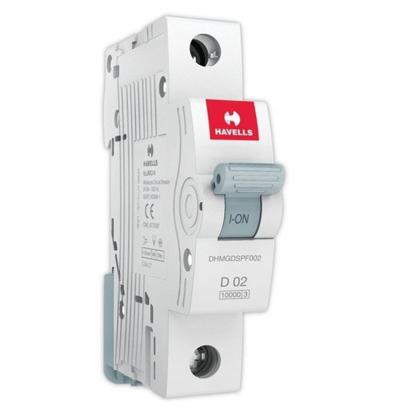 Havells D Curve MCB  Single Pole  0.5A-5A