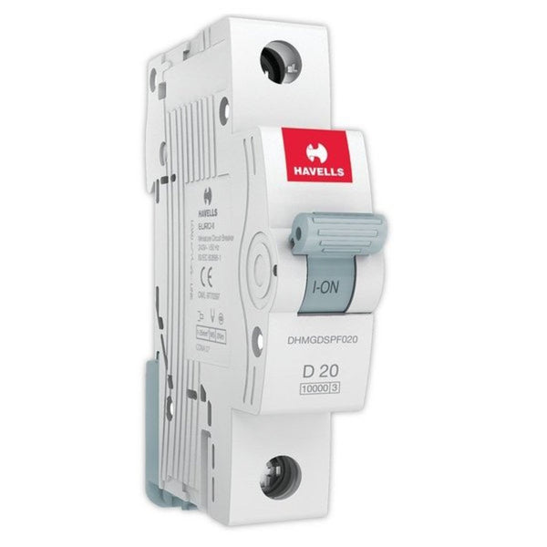 Havells D Curve MCB  Single Pole  6A-32A