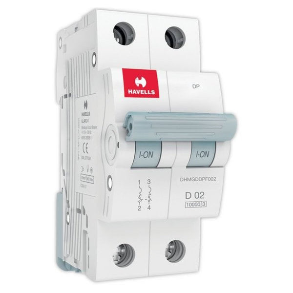 Havells D Curve MCB  Double Pole 0.5A-5A