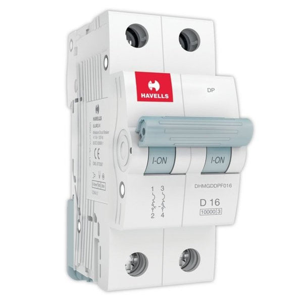Havells D Curve MCB  Double Pole 6A-32A