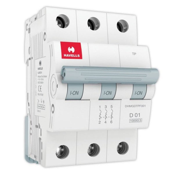 Havells D Curve MCB  Triple Pole 0.5A-5A