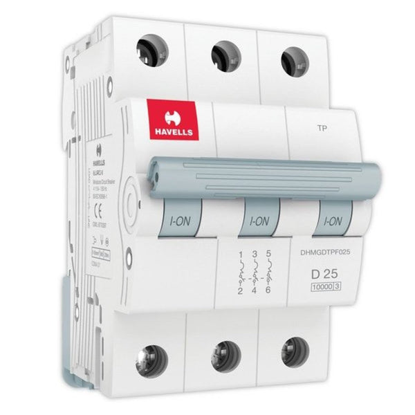 Havells D Curve MCB  Triple Pole 6A-32A