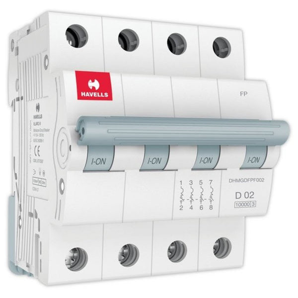 Havells D Curve MCB  Four Pole 0.5A-5A