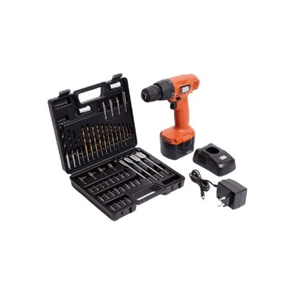 Black & Decker 12V Cordless Ni-Cd Drill/Driver with 50 Accessories Kitbox CD121K50
