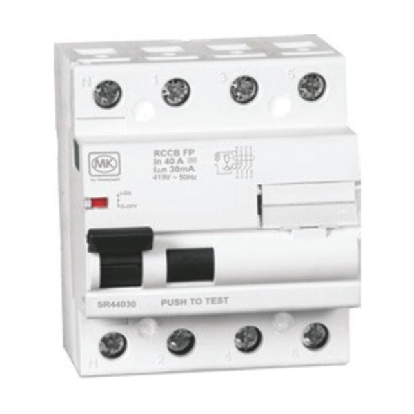 MK Sentry Residual Current Circuit Breaker Four Pole