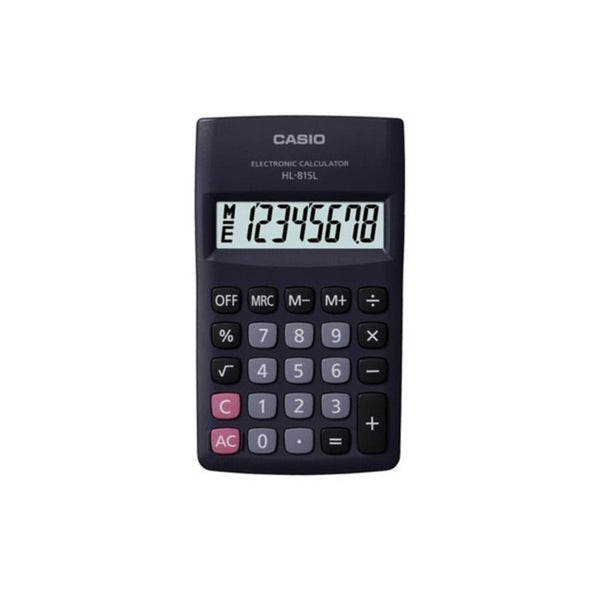 Casio 8 Digits Portable Basic Calculator HL-815L-BK