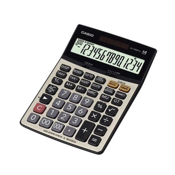 Casio 14 Digits Desktop Basic Calculator DJ-240D Plus