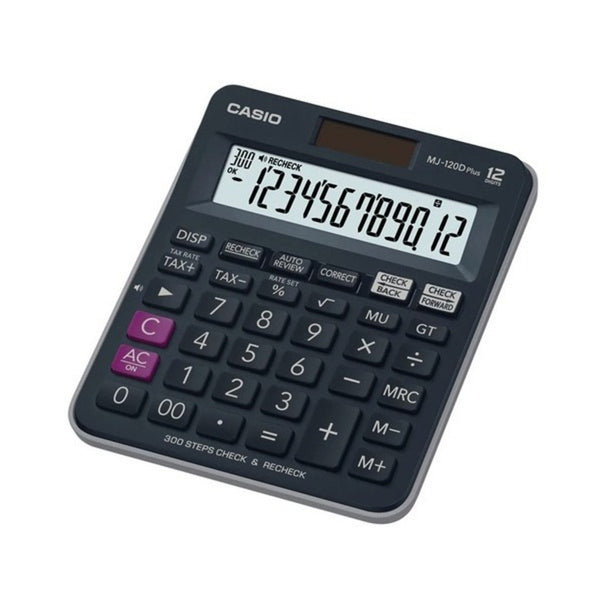 Casio 12 Digits Desktop Basic Calculator MJ-120D Plus-BU