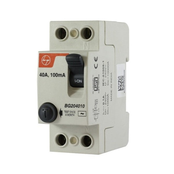 L&T Residual Current Circuit Breaker Double Pole 63A 2Modules