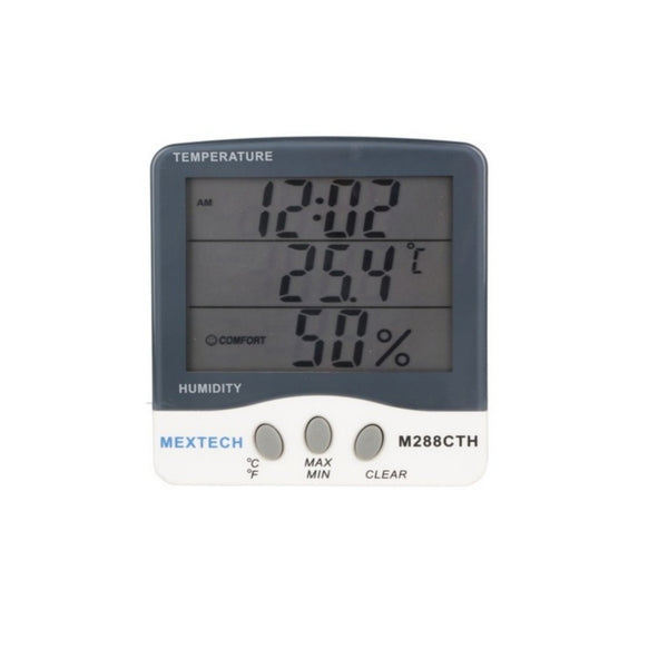 Mextech Digital Thermo Hygrometer (Temp Range -50A° to 70A°C) M-288CTH