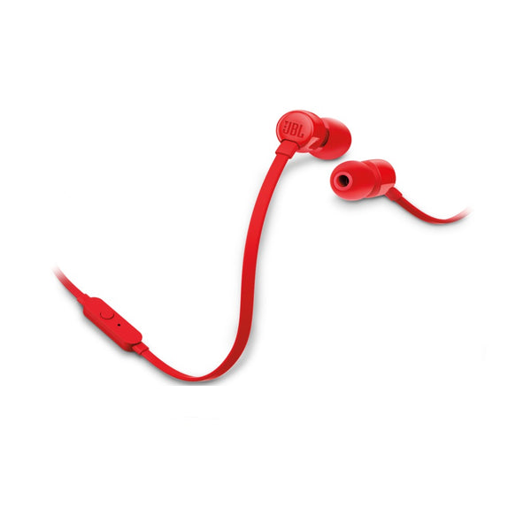 JBL T110 Wired In Ear Headphone Red JBLT110RED