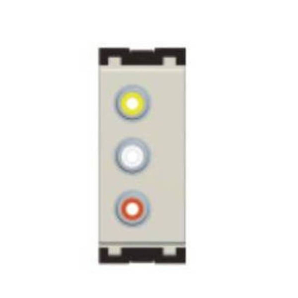 Norisys Cube Series Triple RCA Audio Visual Socket 1Module C5701 .01 (Pack Of 5)