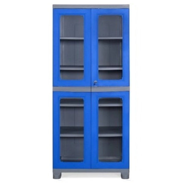Nilkamal Freedom Big 3 (FB3) Plastic Storage Cabinet  (Deep Blue & Grey)